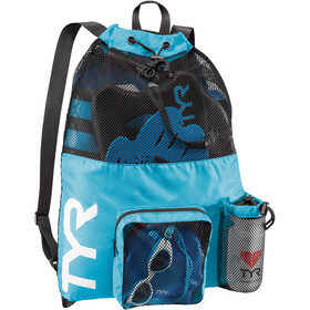 TYR Big Mesh Mummy Swim Backpack blue/black